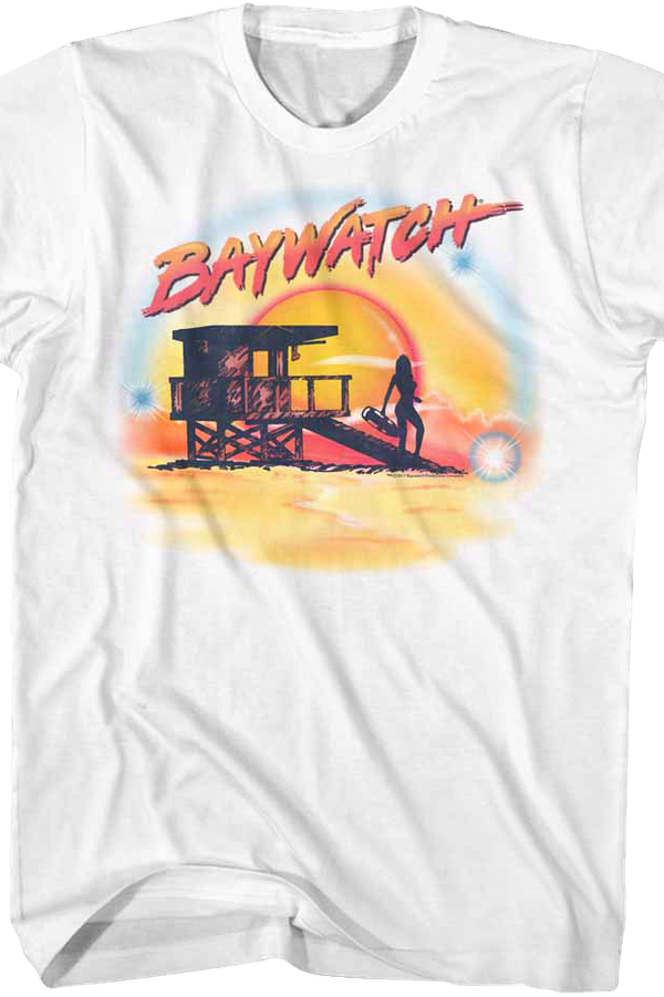 Airbrush Baywatch T-Shirt
