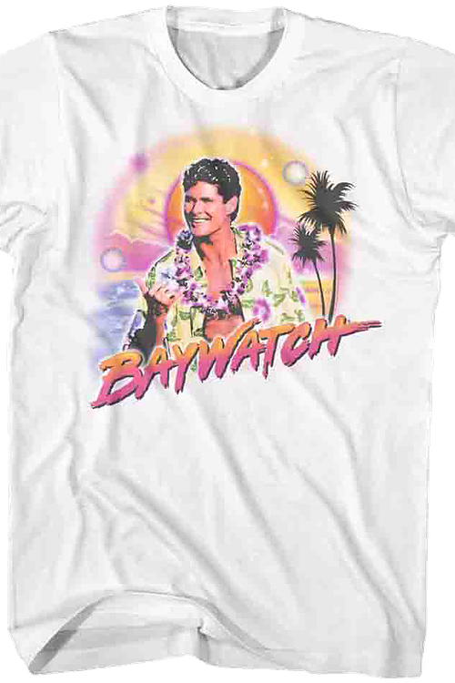 Airbrush Mitch Baywatch T-Shirt