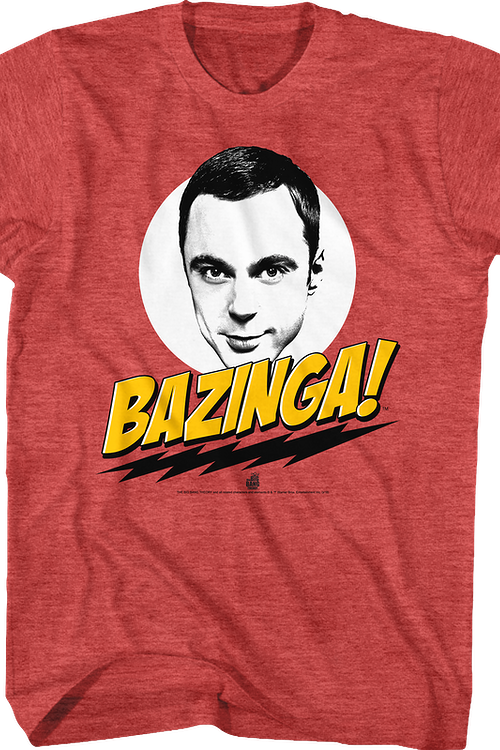 76958c1f Big Bang Theory Bazinga T-Shirt: Big Bang Theory, Bazinga Mens T-shirt