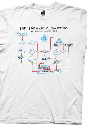 Big Bang Theory Shirt Friendship Algorithm