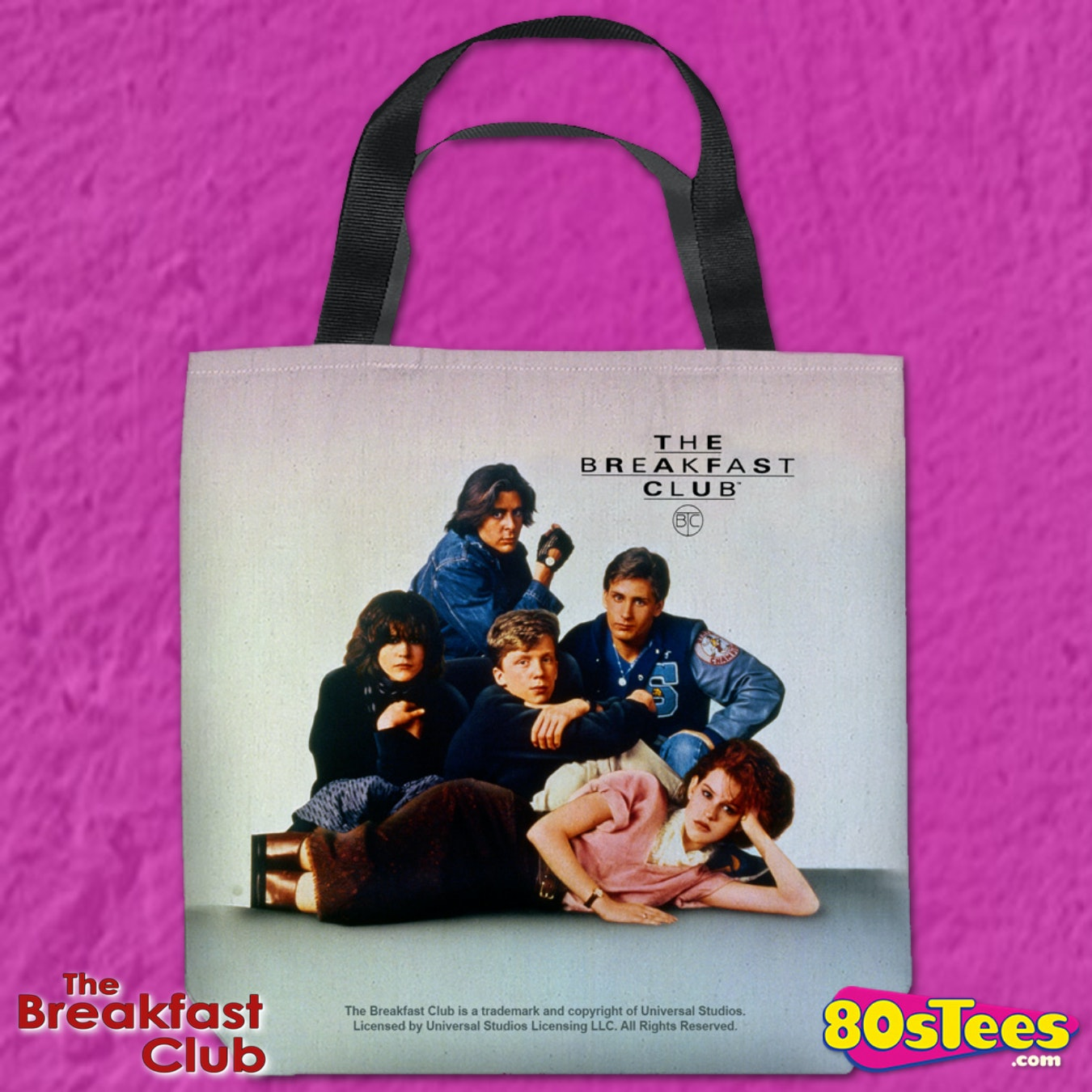 80s movies Judd Nelson The breakfast club tote bag retro