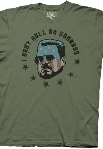 Walter Sobchak Don't Roll on Shabbos Big Lebowski T-Shirt