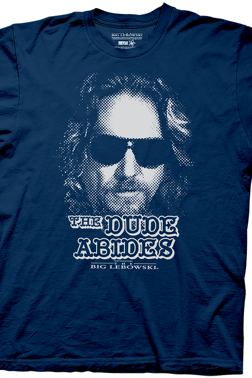 Navy Dude Abides Big Lebowski T-Shirt