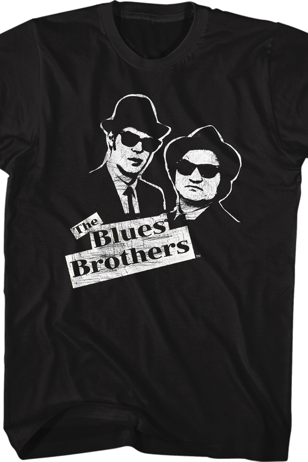 Elwood and Jake Sketch Blues Brothers T-Shirt