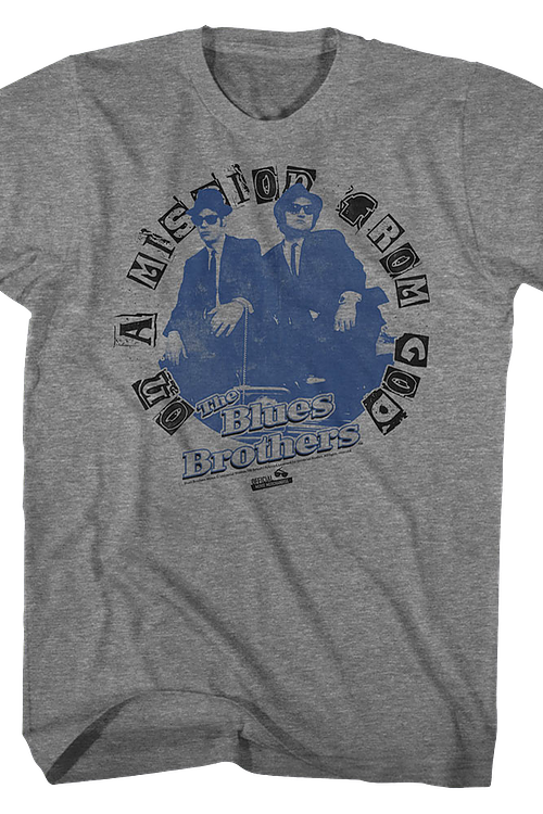 On A Mission From God Blues Brothers T-Shirt