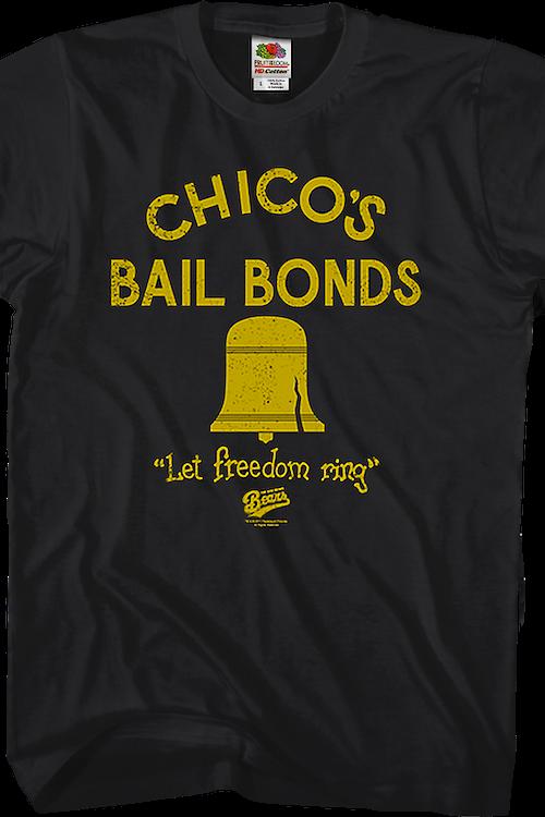 c6aed320b9e Chicos Bail Bonds T-Shirt: 80s Movies Bad News Bears T-shirt