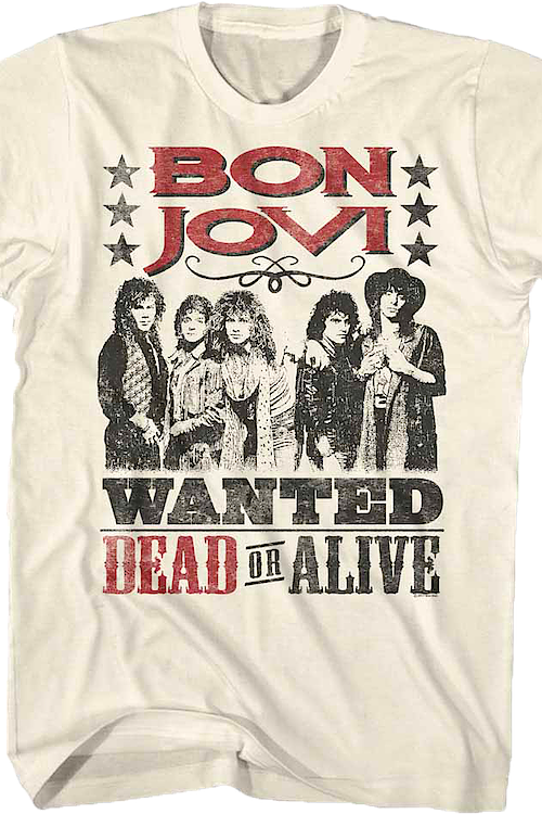 Wanted Dead Or Alive Bon Jovi T-Shirt