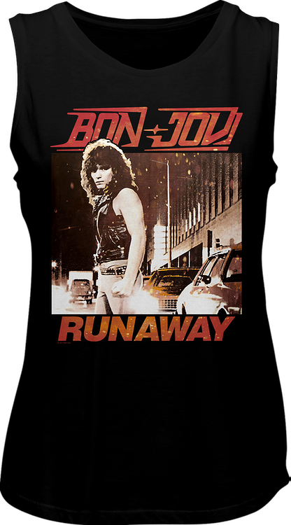 Ladies Runaway Bon Jovi Muscle Tank Top