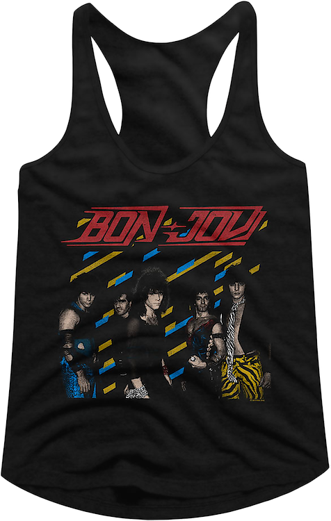 Ladies Retro Bon Jovi Racerback Tank Top