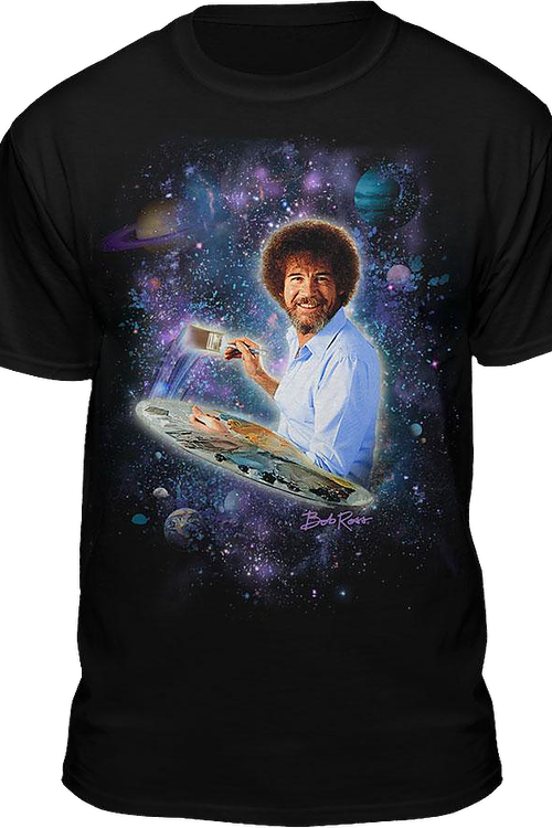 Galaxy Bob Ross T-Shirt