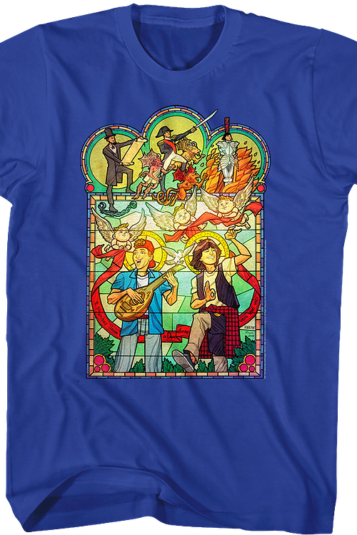 Stained Glass Bill and Ted's Excellent Adventure T-Shirt