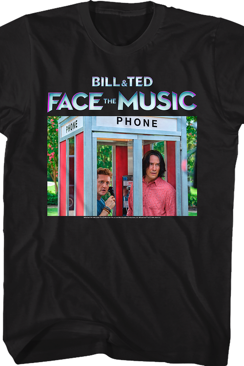 Phone Booth Bill and Ted Face the Music T-Shirt