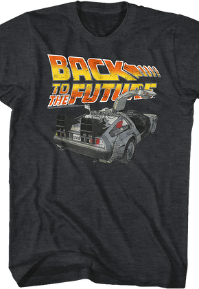 Distressed Delorean Back to the Future T-Shirt