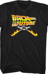 Delorean Fire Tracks T-Shirt