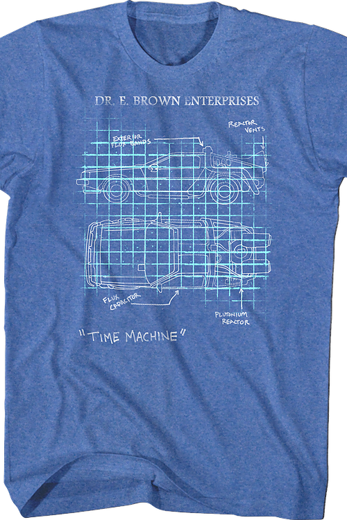 Delorean Schematic Back To The Future T-Shirt