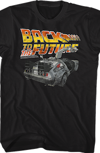 Black Distressed Back to the Future Shirt