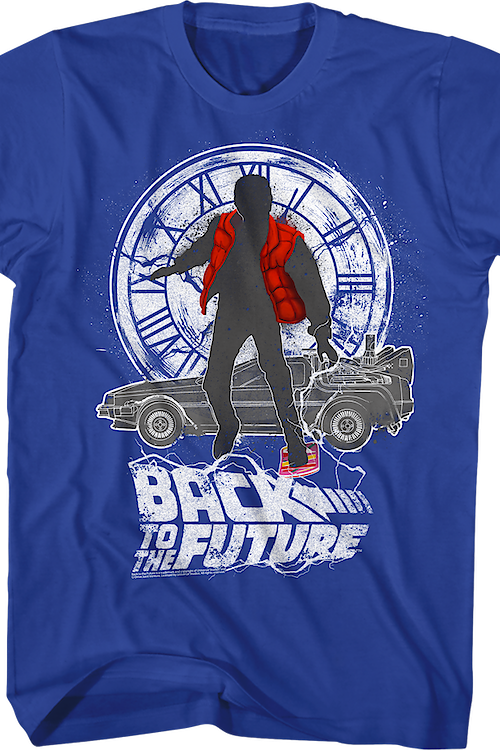 Marty McFly Delorean Clock Tower Back to the Future T-Shirt