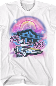 Airbrush Back To The Future T-Shirt