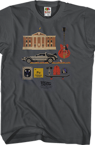 Back to the Future Items T-Shirt