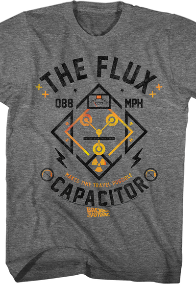 Flux Capacitor T-shirt for Adults - S to 5XL