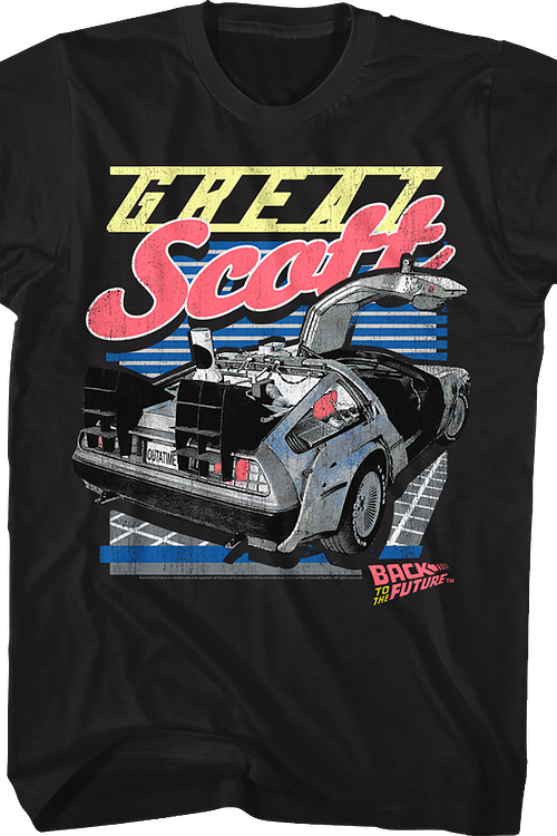 Great Scott DeLorean Back To The Future T-Shirt