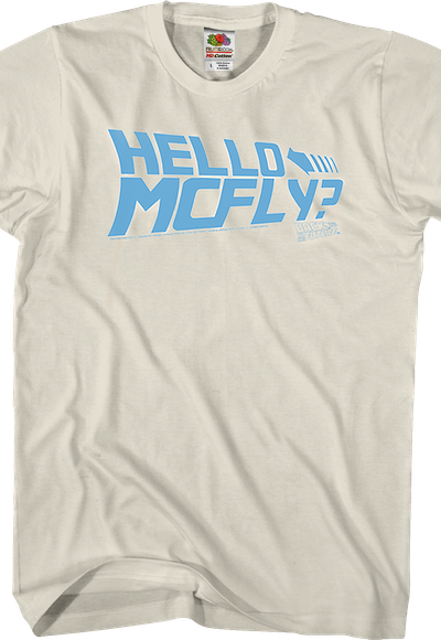 Hello McFly Back to the Future T-shirt - S to 5XL