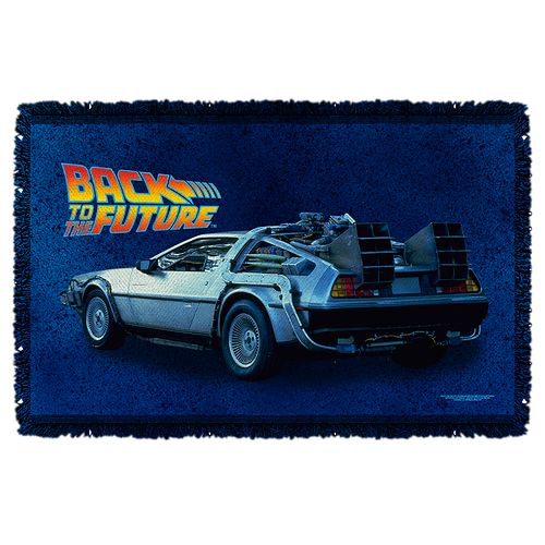 Back To The Future Woven Throw Blanket