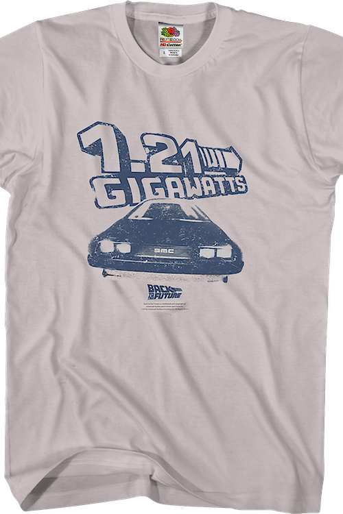 DeLorean 1.21 Gigawatts Back To The Future T-Shirt