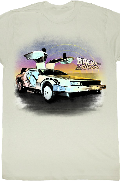 DeLorean Open Doors Back To The Future T-Shirt