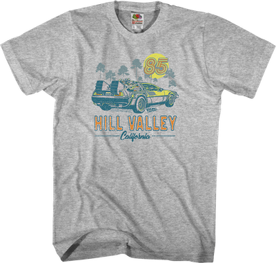 Hill Valley California 85 T-shirt - S to 5XL