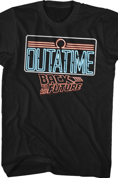 Neon License Plate Back To The Future T-Shirt