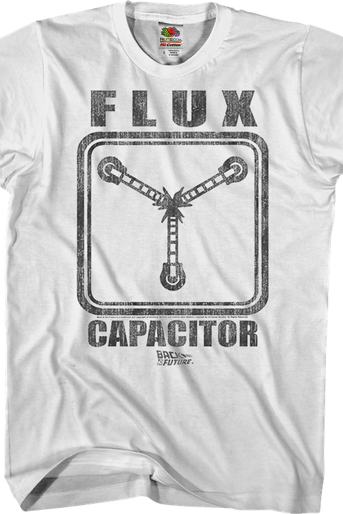 Black and White Flux Capacitor Back To The Future T-Shirt