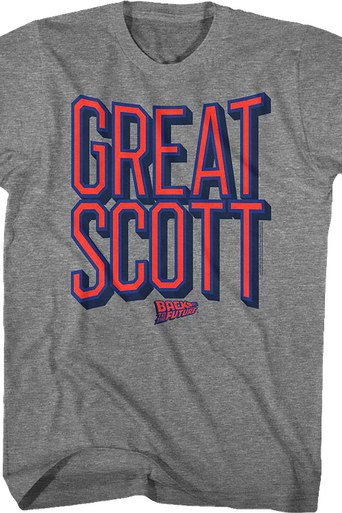 Distressed Great Scott Back To The Future T-Shirt