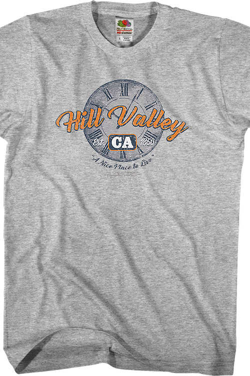 Hill Valley A Nice Place To Live Back To The Future T-Shirt