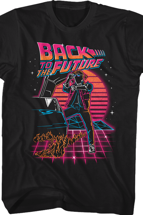 Retro Neon Back To The Future T-Shirt