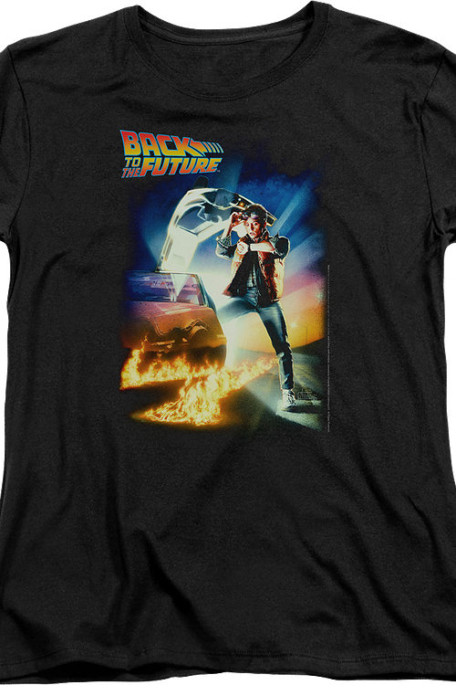 Womens Classic Movie Poster Back To The Future Shirt
