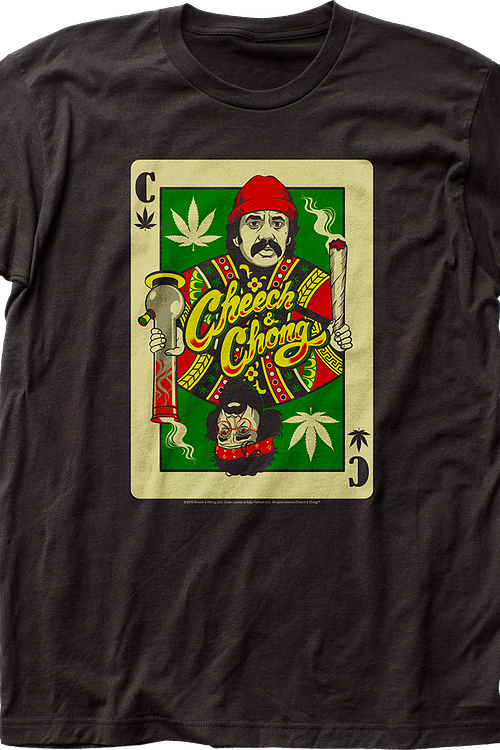 Playing Card Cheech and Chong T-Shirt