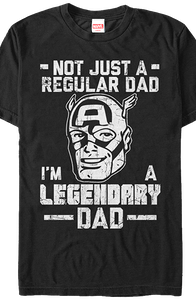 Legendary Dad Captain America T-Shirt