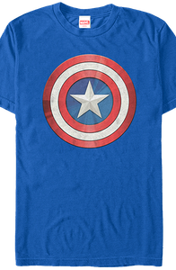 Distressed Shield Captain America T-Shirt