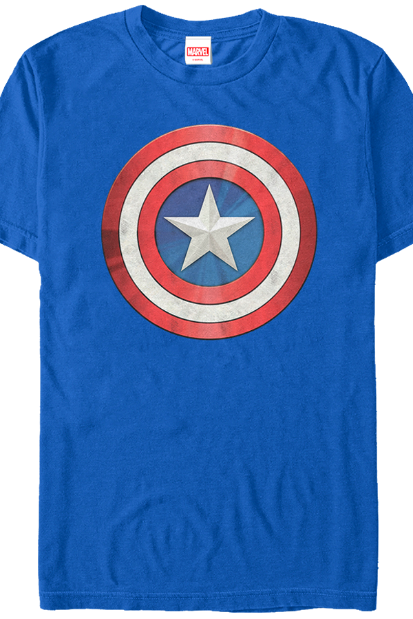 distressed shield captain america t shirt. Black Bedroom Furniture Sets. Home Design Ideas