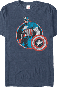 Marvel Retro Captain America T-Shirt