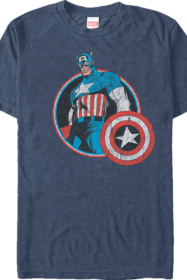 marvel retro captain america t shirt. Black Bedroom Furniture Sets. Home Design Ideas