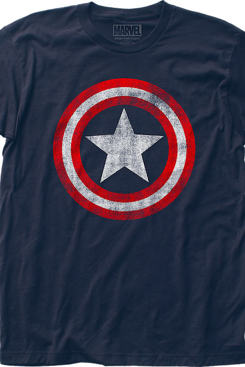 Retro Shield Captain America T-Shirt