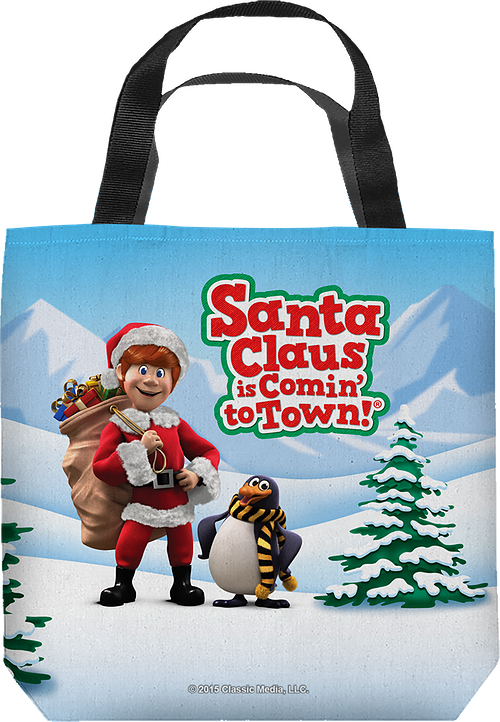 Santa Claus Is Comin' To Town Tote Bag