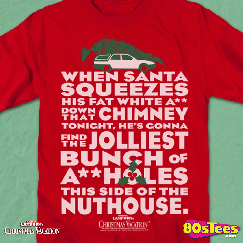 Christmas Vacation Quotes Jolliest Bunch Of: Jolliest Bunch T-Shirt: Christmas Vacation Mens T-Shirt