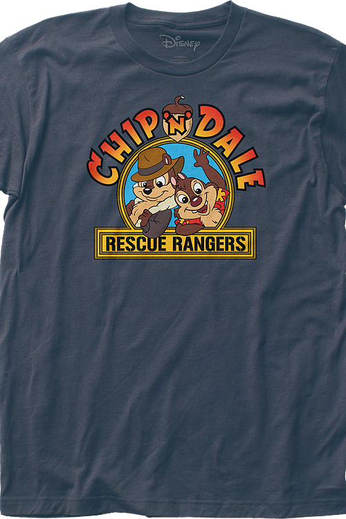 Chip n Dale Rescue Rangers Logo Mens T-Shirt