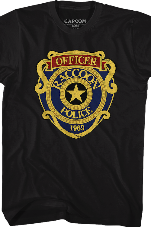 Raccoon City Police Badge Resident Evil T-Shirt