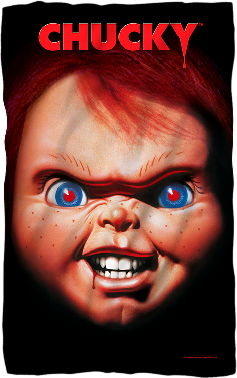Chucky Child's Play Fleece Blanket