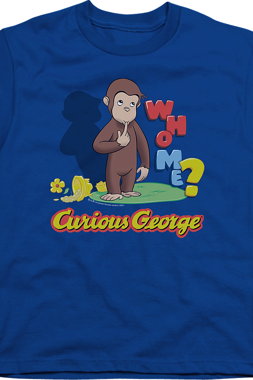 Youth Who Me Curious George Shirt