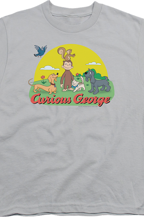 Youth Animal Friends Curious George Shirt